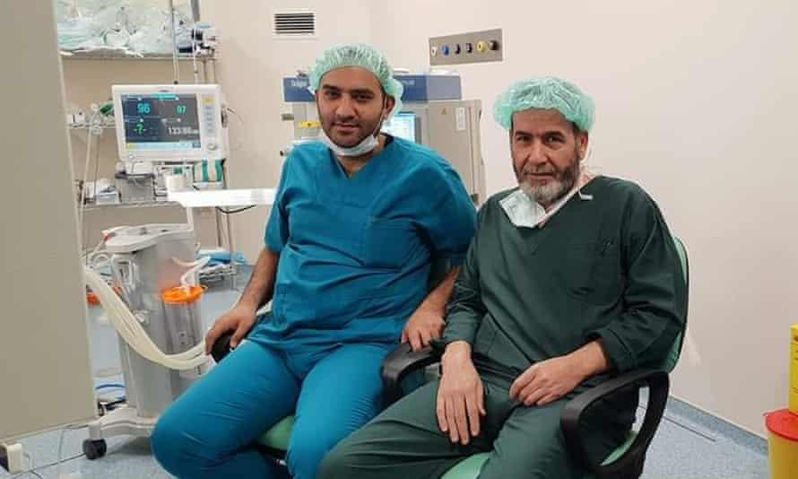 Dr Adnan al-Jassim, right, with Dr Mustafa Mahmud.