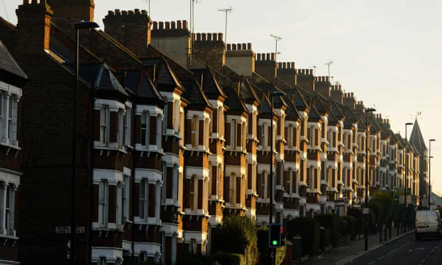 A row of houses in Battersea, south-west London