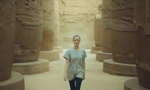 Classy stuff ... Andrea Riseborough in Luxor.