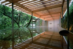 Kengo Kuma's Kogohi Bathhouse in Japan.