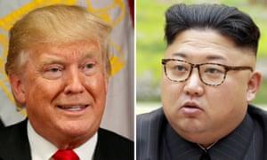 Donald Trump and North Kim Jong-un