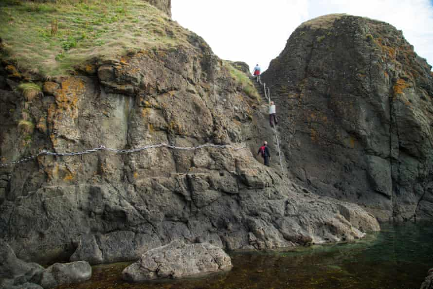 A section of the Elie Chain walk, Fife Scotlandd