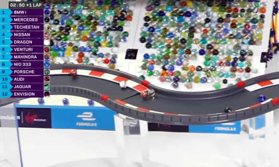 The first race of the Marbula E has been run. The project has been created by Jelle's Marble Runs in partnership with Formula E.