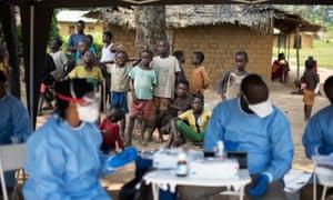 Ebola vaccinations take place in Bosolo village, in the Democratic Republic of the Congo