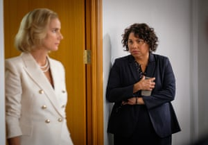Deborah Mailman as Alex and Rachel Griffiths as prime minister Rachel Anderson in Total Control.