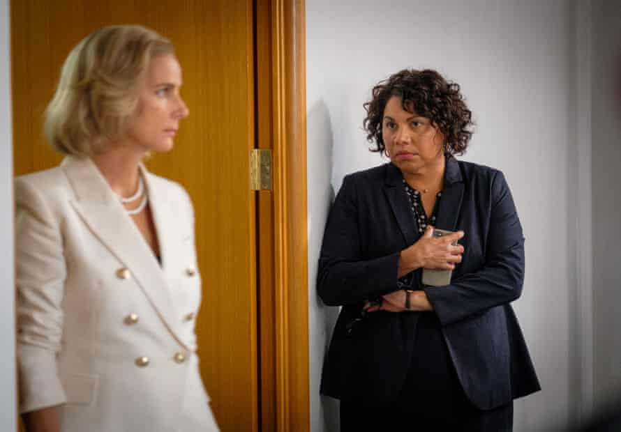 Deborah Mailman as Alex and Rachel Griffiths as prime minister Rachel Anderson in Total Control.