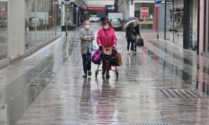 Shoppers in Belfast, after all shopping centres and retailers were given the green light to reopen.