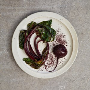 Eat to the beet: Tom Hunt's beetroot complete with leaves, stalks and powdered skin.