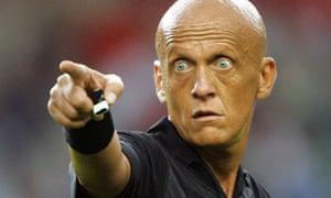 Italian referee Pierluigi Collina in action