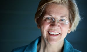 Senator Elizabeth Warren poses for a portrait at her home in Cambridge, Massachusetts
