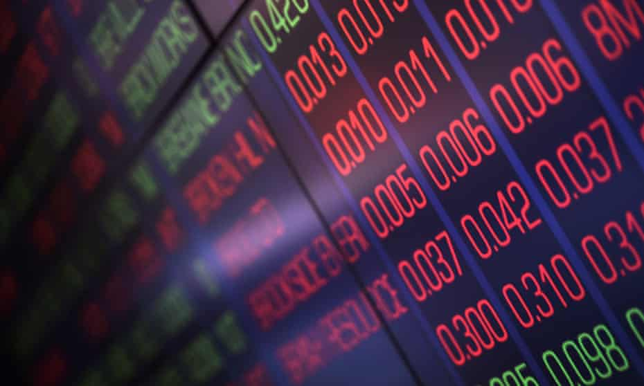 Share prices displayed at the Australian Securities Exchange in Sydney