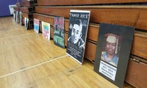 Tamir Rice signs