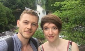 Emer O'Toole and her boyfriend.
