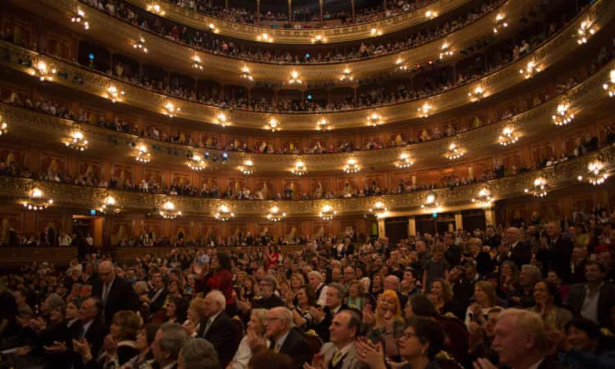 The audience at Teatro Colon in Buenos Aires during a show by the West-Eastern Divan Orchestra.
