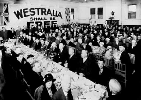 """A """"Westralia"""" secession movement meeting in 1933."""