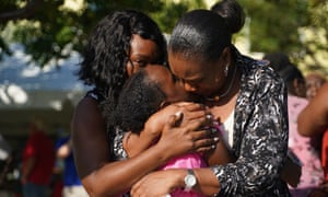 Relatives and friends greet loved ones from neighbouring islands as they arrive in Nassau as evacuees.