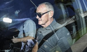 Chris Dawson leaves Silverwater prison on bail after being charged with his wife's alleged murder.