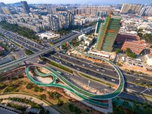 Xiamen Bicycle Skyway by Dissing+Weitling in Xiamen, China