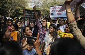 New Delhi, India Women's rights activists shout slogans as they march demanding that the Women's Reservation Bill, which reserves Indian legislative seats for women, be passed by the Parliament