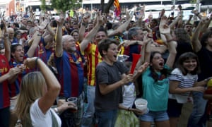 But it's exactly the start that these fans in Barcelona would have wanted.
