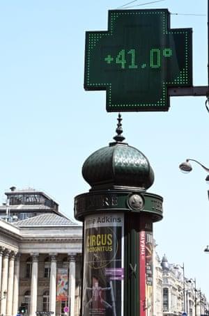 Temperatures soared to 41C in Paris