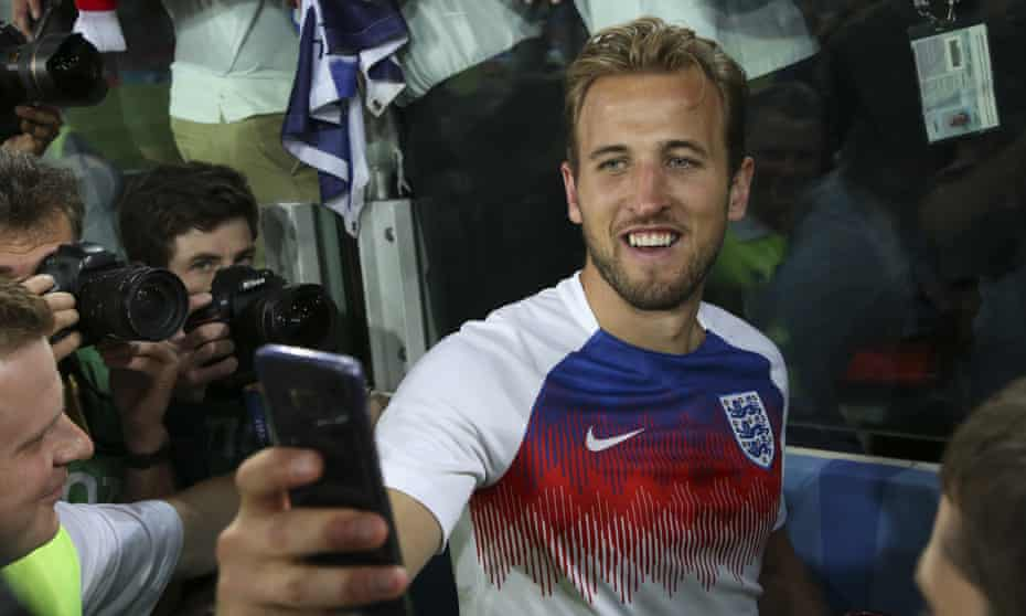Harry Kane shows his selfie skills following England's victory against Colombia in the World Cup last 16 in Moscow.