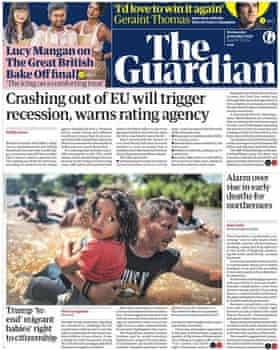 Guardian front page, Wednesday 31 October 2018