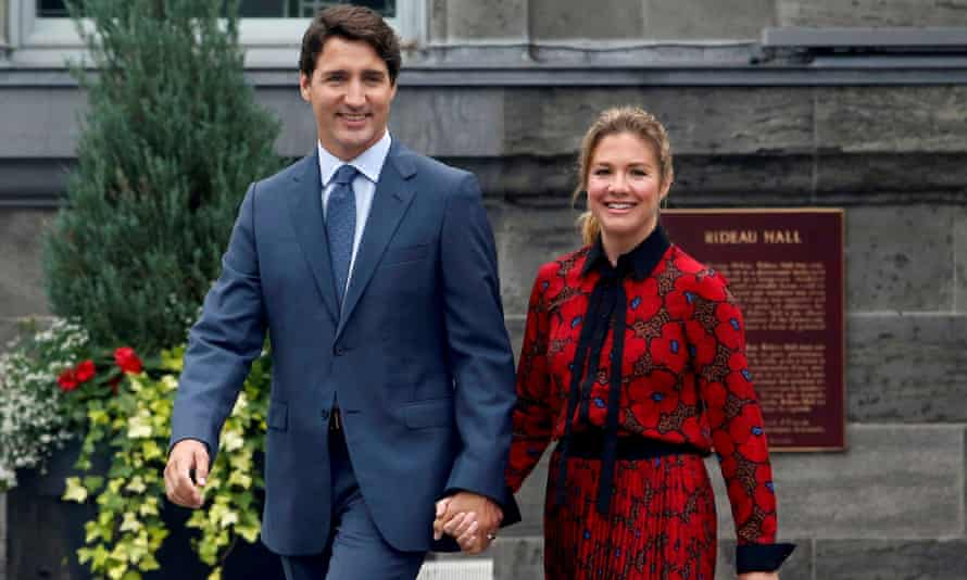 Canada's prime minister Justin Trudeau and his wife, Sophie Grégoire Trudeau. Sophie Trudeau has tested positive for coronavirus.