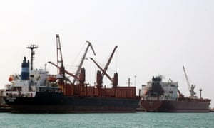 Hodeidah handles some 80% of Yemen's aid supplies after three years of civil war.