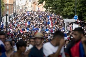 Celebration in Toulouse city centre