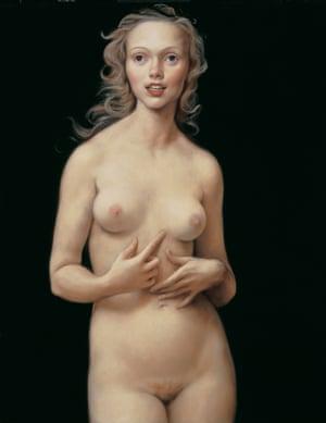 John Currin's Honeymoon Nude, 1998.