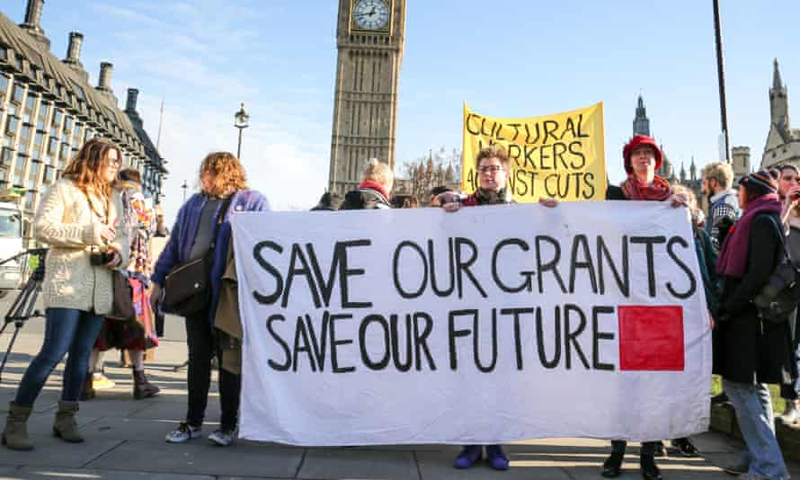 Students at the Grants Not Debt demonstration in London in 2016.