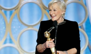 Glenn Close, winner of Best Actress - Motion Picture, Drama, accepts her award.