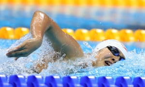 China's Ai Yanhan, 14, competes in the women's 4 x 200m freestyle relay final on Wednesday in Rio.