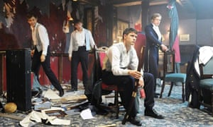 A still from the film The Riot Club (2014)