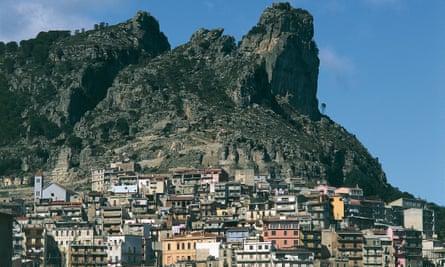 Houses on a mountain in eastern Sardinia