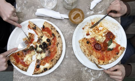 People eat at Franco Manca