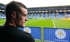 Leicester City's striker Jamie Vardy