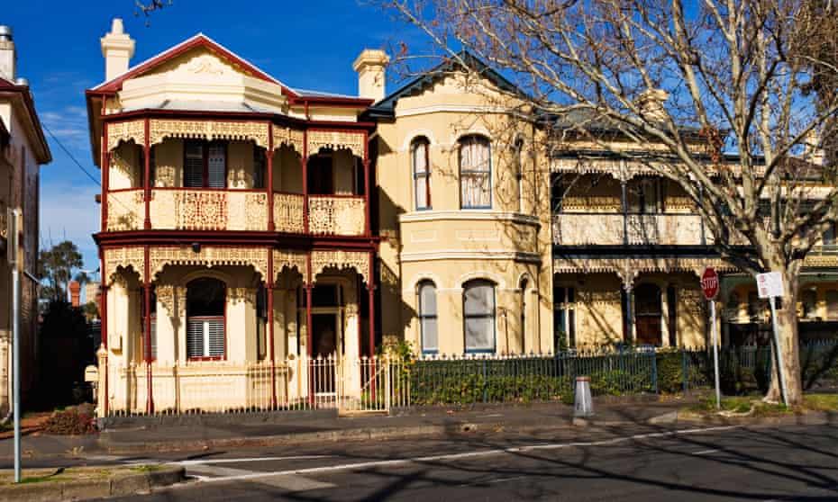 Terrace houses in the suburb of Flemington, Melbourne.