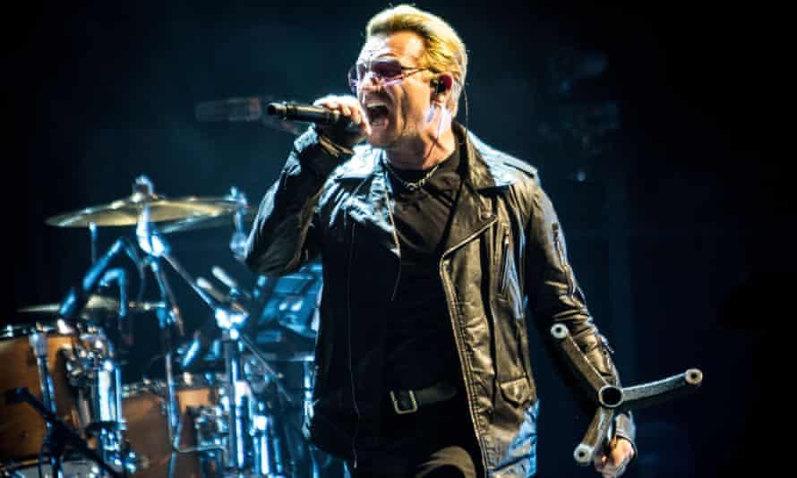 Bono, 'Ireland's greatest pleather-jacketed crooner'.