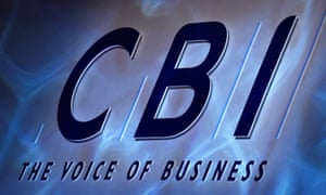 A Confederation of British Industry (CBI) logo is seen during their annual conference in London.