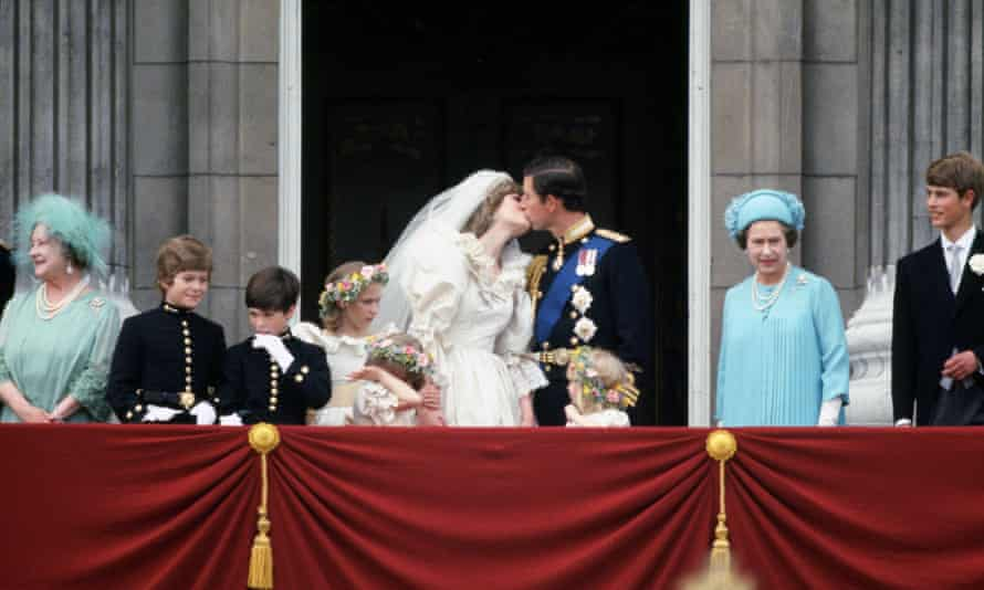 The wedding of Prince Charles and Lady Diana Spencer, 1981.