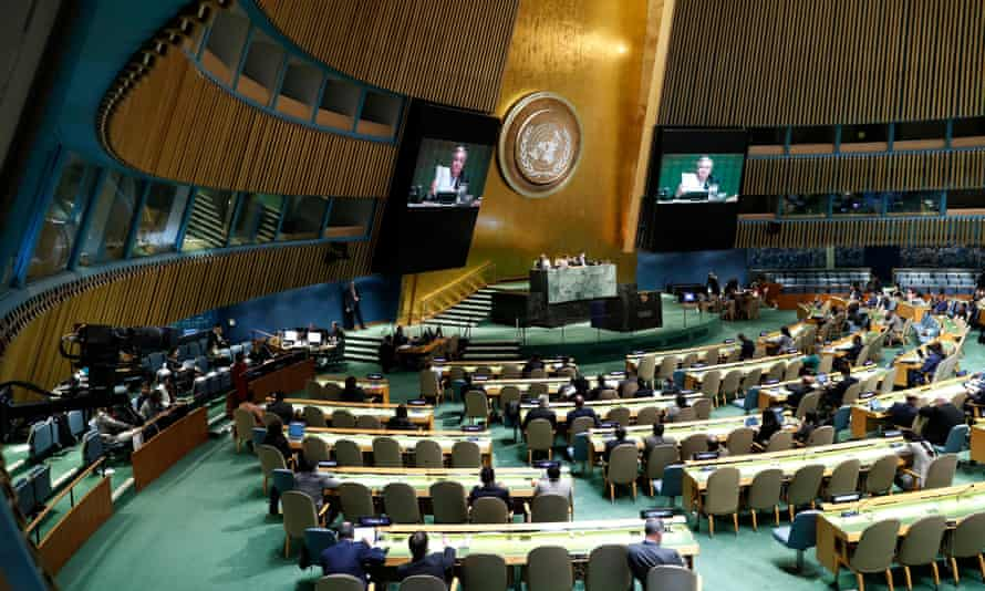 A general view of the UN general assembly.