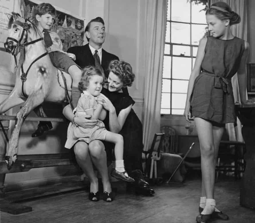 Family matters … Michael Redgrave and Rachel Kempson with (left to right) Corin, Lynn and Vanessa, in 1946.