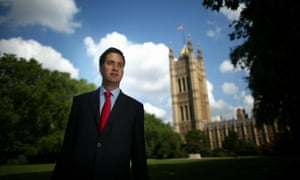 Ed Miliband in Westminster in 2010.