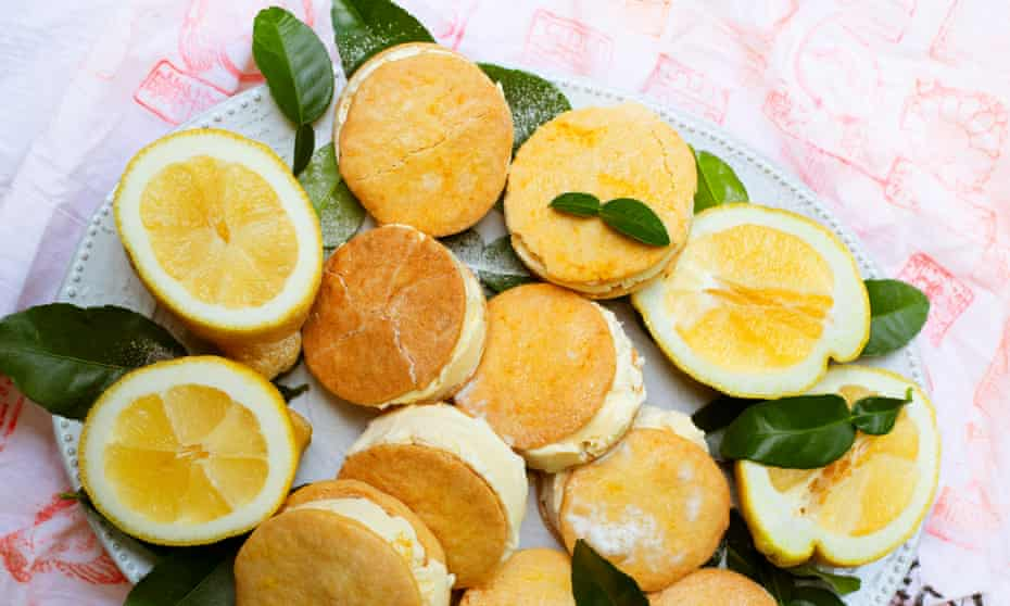 'At their brief moment of perfection': orange and lemon ice-cream sandwiches.