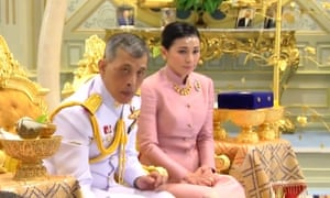 Thailand's King Rama X and Queen Suthida after their wedding ceremony.
