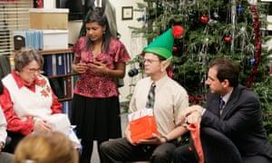 Phyllis Smith as Phyllis Lapin, Mindy Kaling as Kelly Kapoor, Rainn Wilson as Dwight Schrute and Steve Carell as Michael Scott