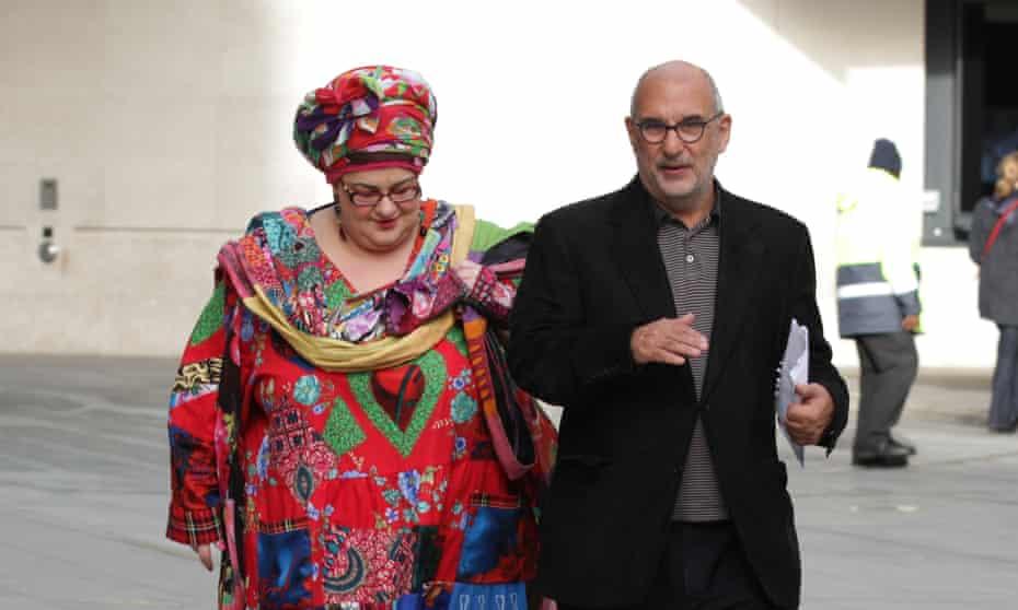 Alan Yentob and Camila Batmanghelidjh outside the BBC.