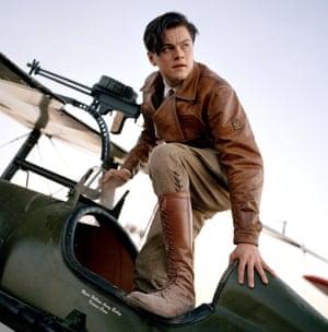Leonardo DiCaprio as Howard Hughes in The Aviator.
